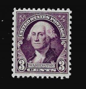US 1932 Sc# 720 3 ¢  WASHINGTON  Mint NH  - Vivid  Color - Centered