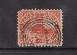 Canada #15 VF Used With Ideal 4 Ring 31 Cancel