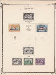 salvador stamps page ref 17189