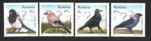 Romania. 2017. Birds, fauna. MNH.