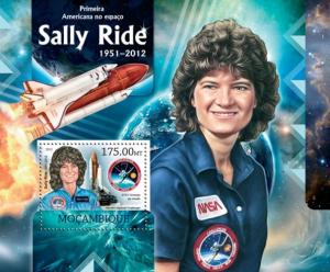 Mozambique MNH S/S Astronaut Sally Ride Space 2012