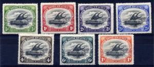 Papua 1906 sg 9 - 15 wmk vertical, set to 1/- superb LIGHTLY MOUNTED MINT