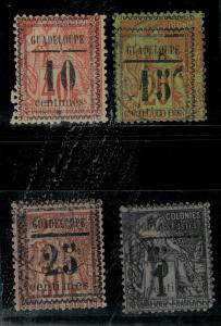 Guadeloupe 1889 SC 6-9 Used SCV $124.00 Set