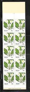 PALAU, 130A, MNH, COMPLETE BOOKLET, FLOWERS