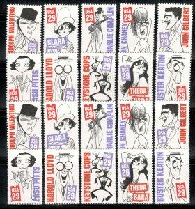 2819-28 Silent Screen Stars Wholesale Lot Of 20 Singles Mint/nh Below Face