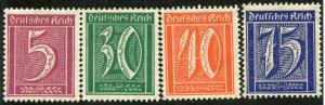 Deutsches Reich  Mi.#  4 stamps  MNH**