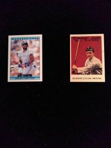 Baseball Trading Cards Cracker Jack Miniature Cards Lot of 2- 1992, 1993