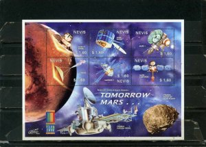 NEVIS 2000 SPACE MARS EXPLORATION SHEET OF 6 STAMPS MNH