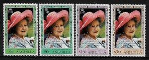 Anguilla #394-7 MNH Set - Queen Mother