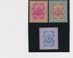India 1895 SC 50-52 Mint Set