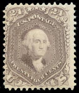 momen: US Stamps #78 Mint OG NH SCARCE WEISS Cert