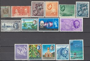COLLECTION LOT OF #1016 SEYCHELLES 15 STAMPS 1903+ CV=$23