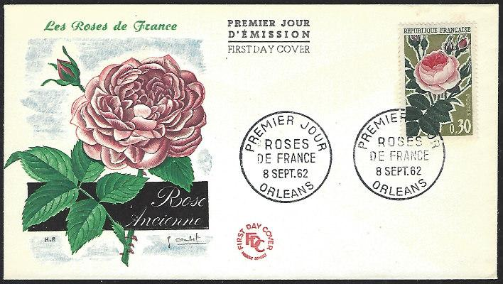 France #1044 Sept. 8, 1962 Orleans First Day Cover Unaddressed (FDC-1)