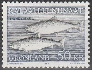 Greenland #141 F-VF Unused CV $20.00 (S3829)
