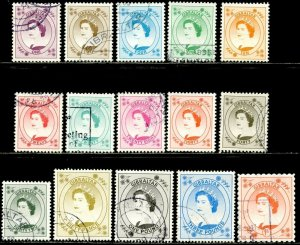 GIBRALTAR Sc#779-793 1999 QEII Definitives Complete Most Used