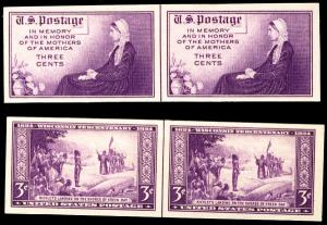 US US #754 - 755  LINE PAIRS,  VF/XF mint never hinged,   Super nice and select!