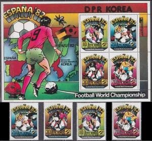 1981 Korea, North 2098+A-C+KL 1982 World championship on football of Spain 60,00