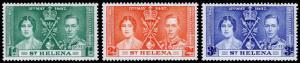 St. Helena Scott 115-117 (1937) Mint LH VF Complete Set C