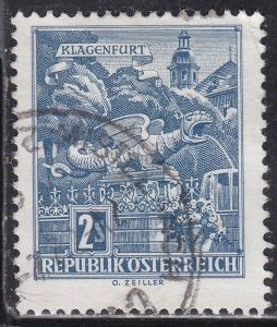 Austria 696 Dragon Fountain, Klagenfurt 1968