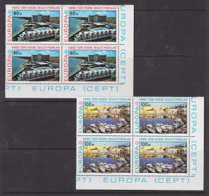 Turkish Northern Cyprus Sc 41-2 MNH. 1977 EUROPA Blocks