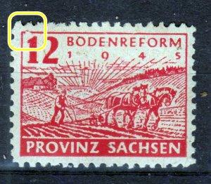 Germany Provinz Sachsen 86 Plate Flaw mnh