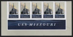 US USS Missouri bottom strip of 5