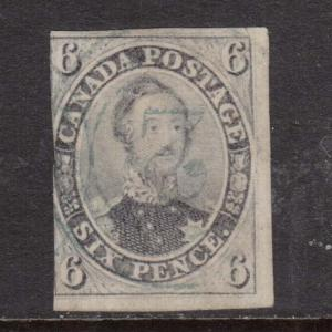 Canada #5d Used With 4 Ring 2 Cancel In Blue **With Certificate**