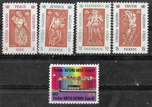 UN-NY #170-74  Canada EXPO/67      (5)  Mint NH