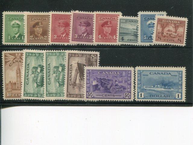 Canada #249-262 Mint VF NH - Lakeshore Philatelics
