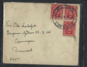 SOUTHERN RHODESIA  (P1703B)  KGV  1DX3  BULAWAYO TO DENMARK