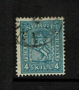 Norway SC# 14, Used, pen on back - S9196