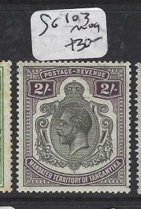 TANGANYIKA (P3105B) KGV  2/-  SG 103   MOG