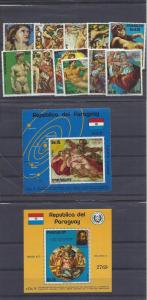 Paraguay, 1583-87, Paintings Singles & Two S/S,**MNH**