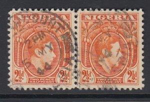 NIGERIA, Scott 57, used pair