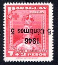 Paraguay #433, Error – Inverted Overprint.   MNH ...  4910318