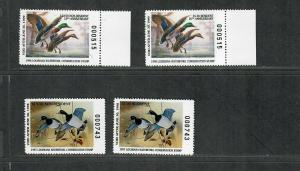 Louisiana Sc#17-20 M/NH/VF, State Duck Stamps, Cv. $66