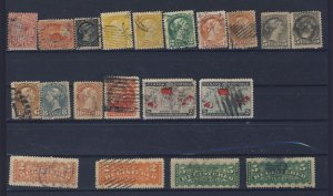 20x Canada Older Used Stamps #14-15-34-35-36-37-39-42-44-45-46-85-86-F1-F2 $246.