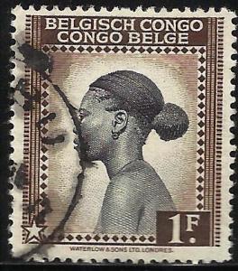 Belgian Congo 1942 Scott# 215 Used