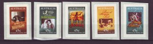 J24327 JLstamps 1995 australia set mnh #1441-5 posters
