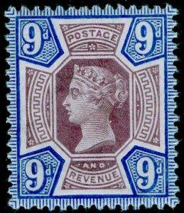SG209 SPEC K38(1), 9d dull purple & blue, NH MINT. Cat £110.