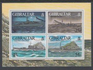 Gibraltar 714 Ships Souvenir Sheet MNH VF
