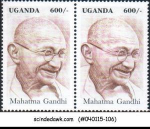 Uganda - 1997 Mahatma Gandhi - PAIR - MINT NH