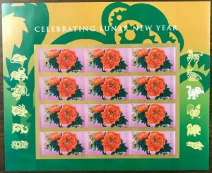 5057   Monkey-Chinese Lunar New Year   MNH Forever sheet of 12   FV $6.60   2016