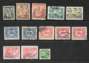 Slovakia Lot of 13 Different Mint & Used stamps 2017 CV $21.50