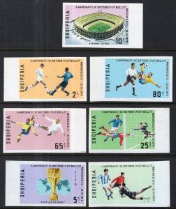 Albania 1290-1296 Soccer Imperfs MNH VF