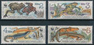 [167] Czechoslovakia Amphibians WWF good Set very fine MNH Stamps