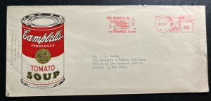 1947 Camden NJ Usa Advertising Cover To Albany Campbell's Soup