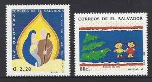 EL SALVADOR CHRISTMAS, NATIVITY Sc 1335-6 MNH 1992