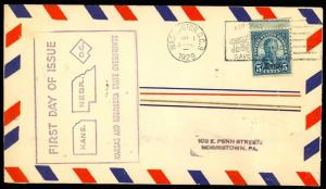 663, RARE FIRST DAY COVER - WASH D.C. WITH CACHET