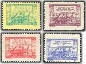 Vietnam 1968 MNH Stamps Scott 501-504 War Ho Chi Minh Appeal Speach Soldiers